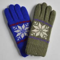 Buy cheap 2015 polyester acrylic Knitted Striped Gloves Touch screen Knit gloves Winter from wholesalers