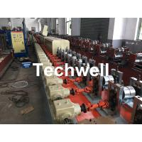 Quality Aluminum , Carbon Steel Pu Foam Rolling Shutter Door Making Machine With Servo Tracking Flying-Saw Cutting wholesale
