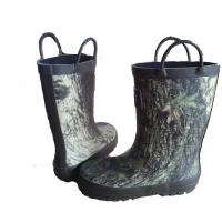 Quality Kids Camo Rubber Rain Boot With Handles Manufacturer From Hangzhou wholesale