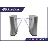 Quality Semi - Automatic Flap Barrier Turnstile Gate Access Control Auto Reset Function wholesale