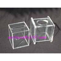 Quality Transparent Cube Contracted Tissue Paper Storage Box Acrylic Tissue Holder wholesale