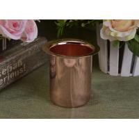 Rose Golden Electroplated Taper Decorative Stainless Steel Metal Candle Holder