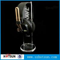 Quality 2016 Hot sale acrylic headphone/earphone/ headset display stand/rack wholesale