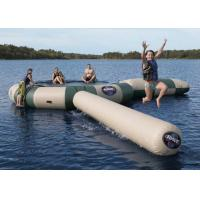 Quality Strong Inflatable Water Trampoline Combo With Slide , Inflatable Water Games wholesale