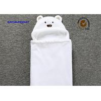 Quality 100% Polyester Chenille Plush Baby Blankets With Bear Applique Embroidery Hat wholesale