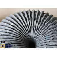 Quality PVC Coated Fiberglass Fabric Grey Flexible Air Ducts 200MM 260℃ Waterproof wholesale