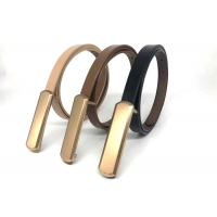 China Smooth Buckle Thin 1.5cm Women's Fashion Leather Belts on sale