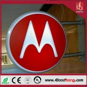 China storefront acrylic signage/aluminium profiles round led light box/advertising light box on sale