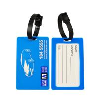 Quality Promotional Soft PVC Rubber Silicone Made 3D Logo Embossed Luggage Tags For Travel Company wholesale