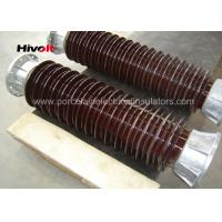 Quality Brown Color Station Post Insulators For 110kV Substations Metric Pitch wholesale
