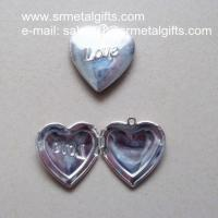Quality Silver Love Heart Photo Locket for diy jewelry, Love Heart Picture Locket wholesale