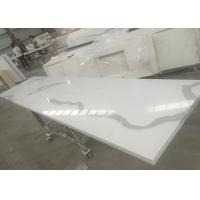 Quality Solid Surface Calacatta Quartz Slab Countertops With White Vein OEM / ODM Avaliable wholesale