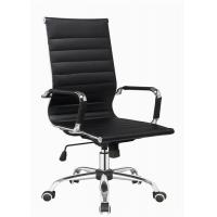 Quality Modern Designer Brown Leather Office Chair , Adjustable High Back Office Chair wholesale