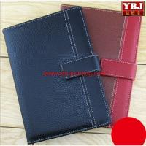 china guangzhou ybj Cheap Custom Pu leather agenda book/personal diary printing