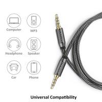 Quality 3.5 jack audio cable 3.5mmAUX cable cable car auxiliary line 4 pole connectable microphone for headphones mobile phone wholesale