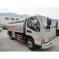 Quality best quality brand new 4*2 diesel 120HP JAC 1200gallon  5m3 oil truck for sale, JAC LHD fuel dispensing truck for sale wholesale