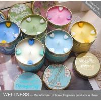 Quality Soy Wax Scented Tin Candles , Handmade Non Toxic Long Lasting Scented Candles wholesale