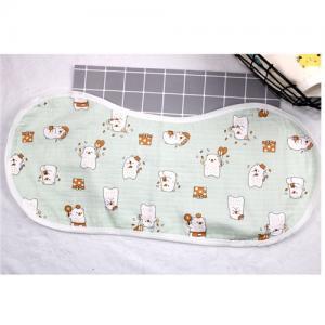 Quality Adjustable Infant Bandana Burp Cloths , Muslin Baby Clothes Bibs Four Layers wholesale