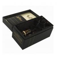 Quality Luxury Black Rigid Paper Board Wine Packaging Boxes for Gift Packaging wholesale