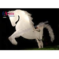 Quality Parade Event Inflatable Horse Pony White Character With Led Light Man Show wholesale
