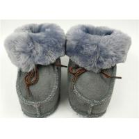 Quality Natural Super Soft Fur Double Face Australian Baby Sheepskin Boots Grey / Pink wholesale