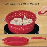 Quality Collapsible Silicone Strainer Steamer Combo (FG2056) wholesale