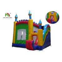 China Outdoor 0.55mm PVC Tarpaulin Inflatable Jumping Castle With Slide For Rent on sale