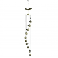 Quality 3D Brass 33.5inch Length Decorative Wind Chimes With Crystal Balls wholesale