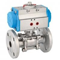 Quality Pneumatic 3-pcs Ball valve with Flange Type wholesale