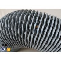 Quality PVC Coated Glass Fibre Flexible Air Ducting 200MM Diameter 5 Meters 260℃ wholesale