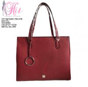 Quality Women Handbag Designer Red Color Ladies Leather Tote Bag wholesale