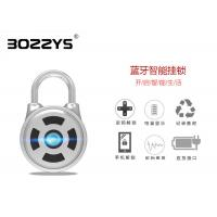 Stainless Steel Shackle Master Lock Bluetooth Smart Padlock Silver Color OEM