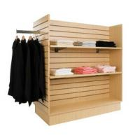 Quality Commercial Garment Metal Display Racks / Mdf Four Side Retail Clothes Display Stand Hangers wholesale