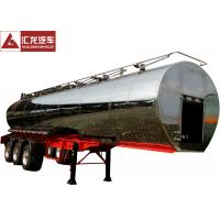 China 316L Milk Transport Truck , Stainless Steel Water Tank Trailer With Pump System on sale
