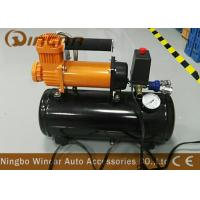 Quality Auto 12v Portable Air Compressor 12v 30mm Orange Color With 8 Liter Tank wholesale