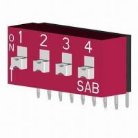 Quality Right Angle Slide DIP Switch with 5,000 Cycles Long Lifespan wholesale