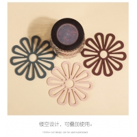 China Heat Resistant Table Silicone Hot Pot Holders Placemat Pads Coasters on sale