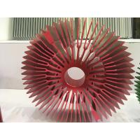 Cheap Red Anodized Aluminum Sunflower Radiator Led Cylindrical Heat Sink for Tracking Light for sale