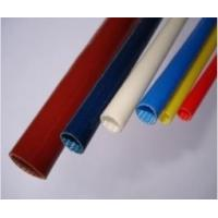 China Braided Silicone Rubber Fiberglass Sleeving , High Temp Fiberglass Sleeving on sale