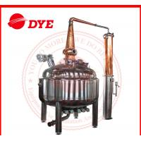 Quality Red Copper Pot Still Distillation Industrial For Low Alcohol Concentration wholesale