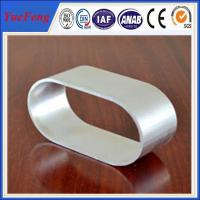 Industrial use 6063 natural color Oval Aluminum Extrusion of anodizing
