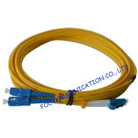 Quality SC To LC SM Optical Fiber Patch Cord 9/125 Single Mode 3.0mm For WAN Systems wholesale