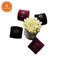 Quality Unique Circular Velvet Flower Packaging Boxes / Cardboard Gift Boxes wholesale