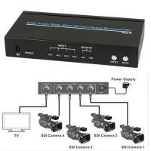 SDI 4x1 Hdmi Multiviewer Seamless Video Switcher Scaling 1080P IR Remote 100m