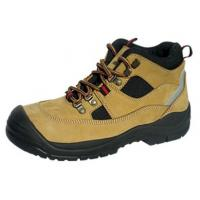 China Anti Impact Mens Brown Leather Work Shoes , Practical Fashionable Composite Toe Shoes on sale