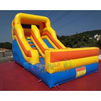 Quality Commercial Inflatable Dry Slide Bouncer For Kids And Adults / Blow Up Land Slide wholesale