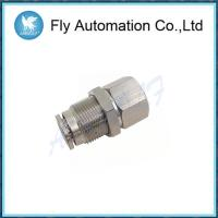 China M6 * 9 Silvery Brass Tube Fittings , Internal Thread Through Connector G1 / 8 on sale