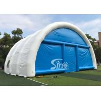 China 15m x 15m white N blue large airtight inflatable wedding party tent with best material from China Inflatable factory on sale