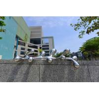 Quality Customized Stainless Steel Sculpture Contemporary Garden Statues Abstract Style wholesale