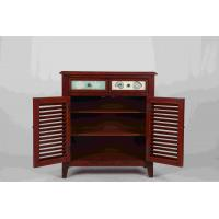 Cheap Walnut Office / Home Storage Cabinets With Doors Soild Wood L81*W38.5*H91CM for sale